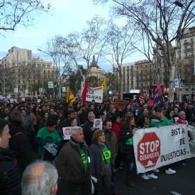 Manifestació per l'habitatge digne convocada per la Plataforma d'Afectats per la Hipoteca a Barcelona (Països Catalans) el 16 de febrer de 2013. Bild: CC0 by Jove